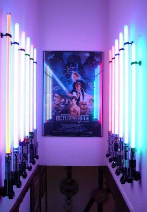 Nerd Man Cave Decor : Man cave decor caves awesome and light saber