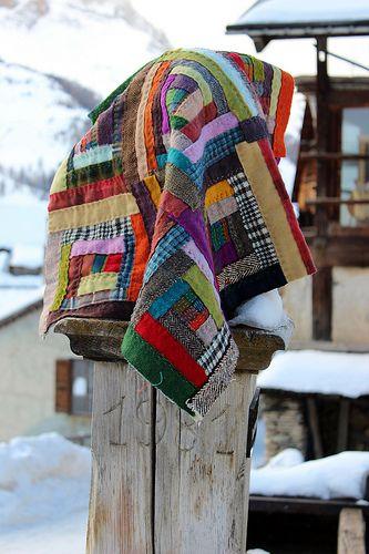 Quilt en laine à St Véran (Queyras)