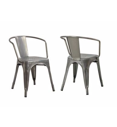 Industrial vintage style chairs add some contrast to Lucy Akins's CANVAS style. MyCANVAS