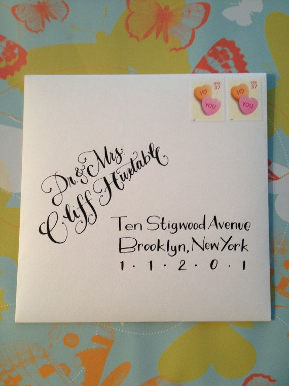 Unique & Ohsochic ENVELOPE ADDRESSING for all by LetteringByLiz, $3.00