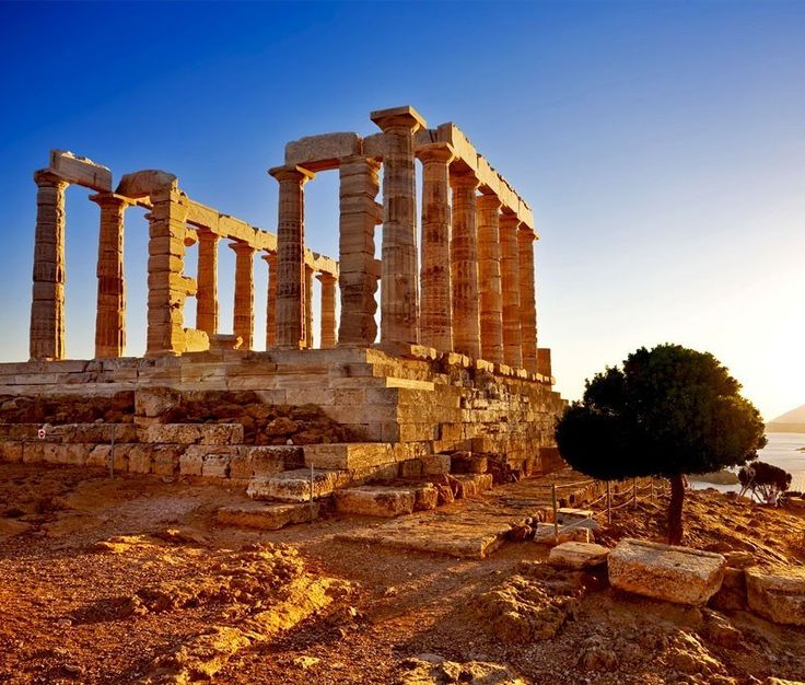 Cape Sounion - Ruins of an ancient Greek temple of Poseidon before sunset | 10 Top Rated Tourist Attractions In Greece