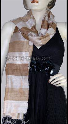 Elegant Reversible Silk Stole