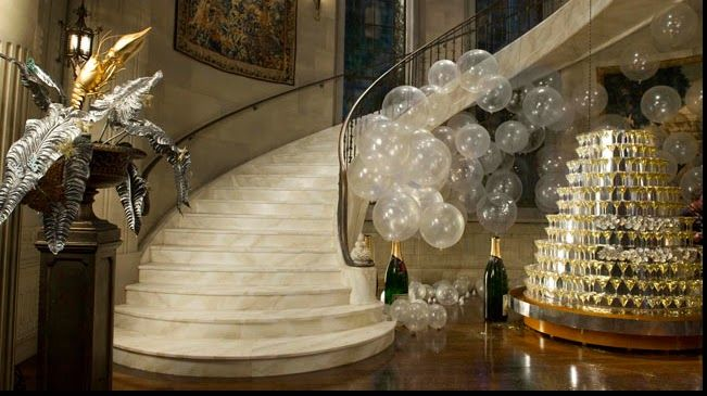 The Grand Foyer Party : Grand foyer of gatsby s mansion balcony party