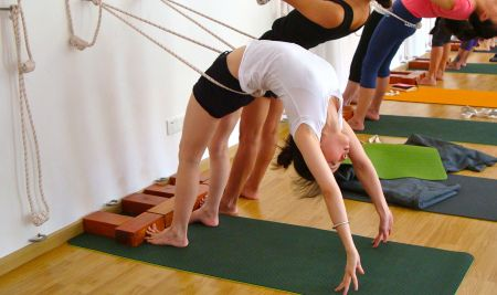 17 images about iyengar yoga rope wall backbends on