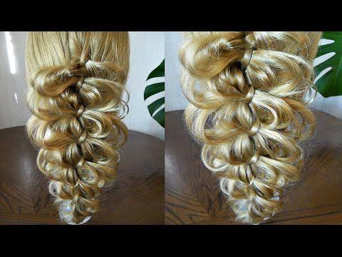 Коса из 4 прядей - Ажурная - YouTube