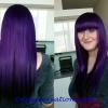 Full Weave 14/16iches Purple Human Hair Extensions