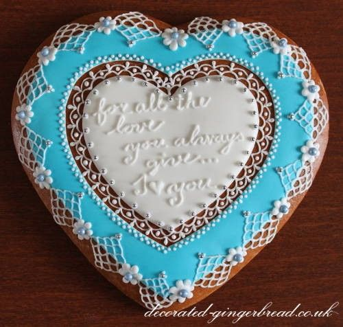 Personalized gingerbread biscuit.