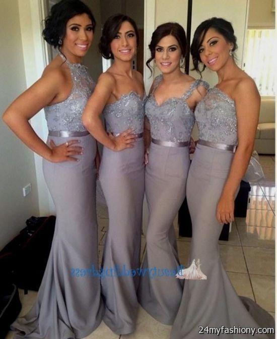 winter wedding silver bridesmaid dresses 2016-2017 » B2B Fashion
