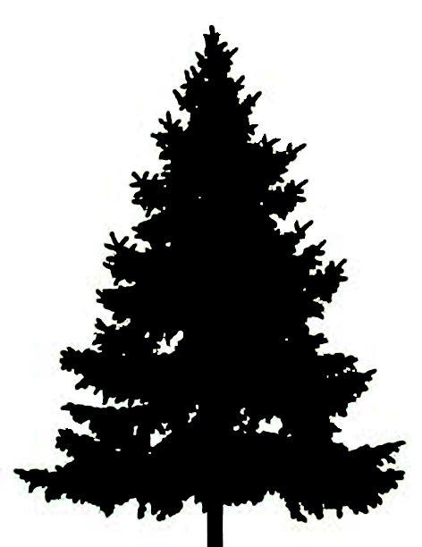 Tree Silhouette Clip Art Clipart-fir tree January · Christmas Tree  SilhouetteChristmas SilhouettesBlack ...