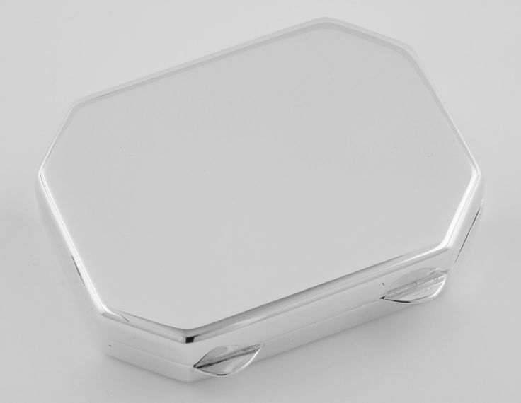Octagonal Shaped Sterling Silver Pillbox - Made in USA $195.50