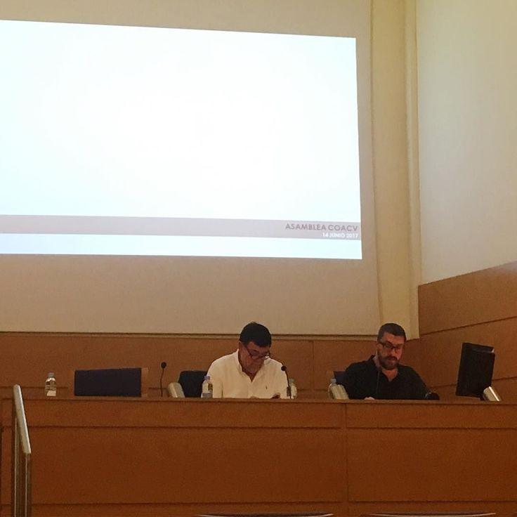 Asamblea del COACV. El decano al habla. #architect #colegio #valencia