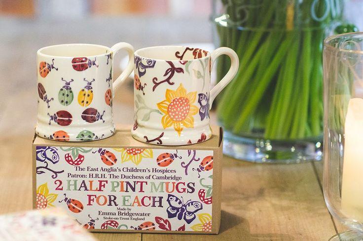 Emma Bridgewater Ladybirds 0.5 pint mugs, designed for East Anglia's Children's Hospice (EACH)