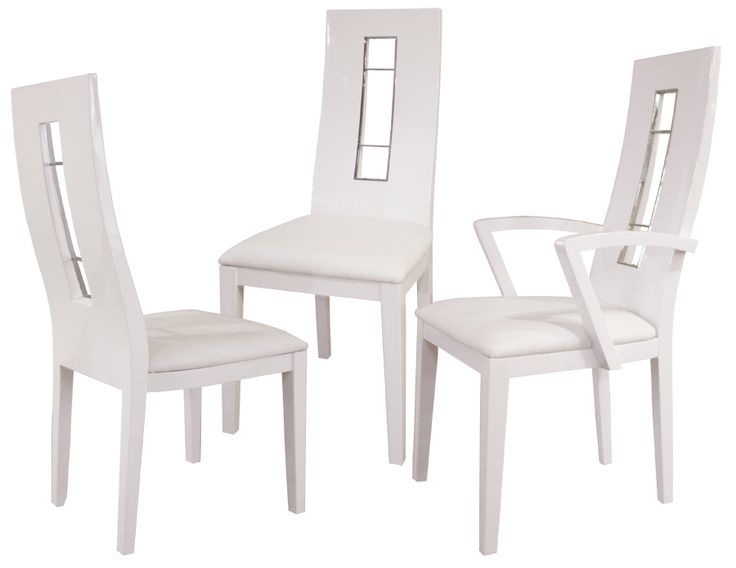 Novo White Lacquer Chairs Conference ChairsModern Dining RoomsDining