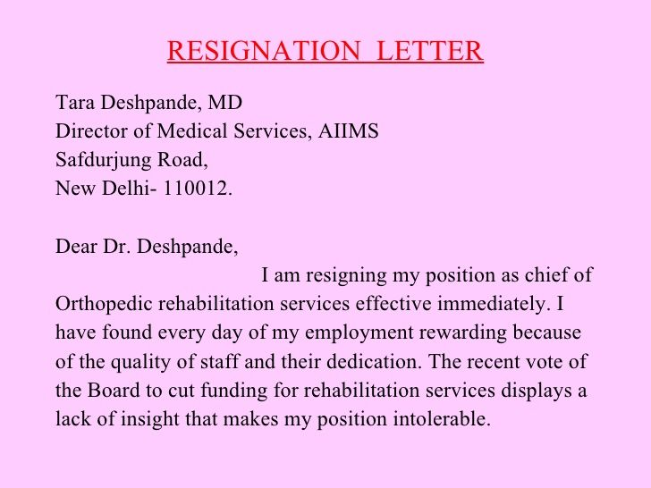 Different Types Resignation Letters How To Write A Letter Of