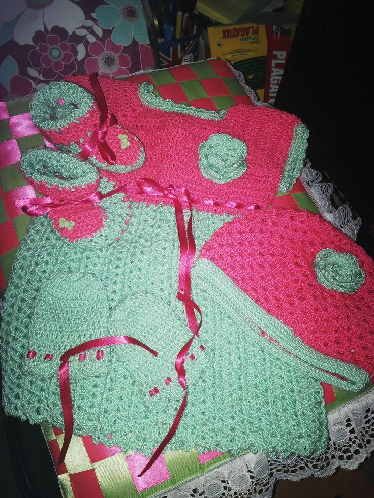 conjunto en crochet