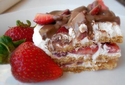 No - Bake Strawberry Ice Box Cake! So Fast and So Delicious!!!!