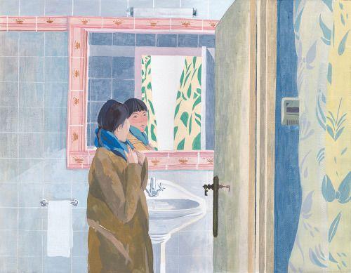 浴室 - Megumi Goto Illustration : 後藤恵イラストレーション