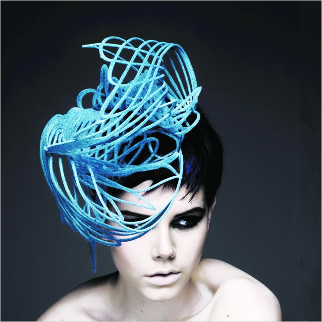 H A T S: Laser works on millinery and fashion.