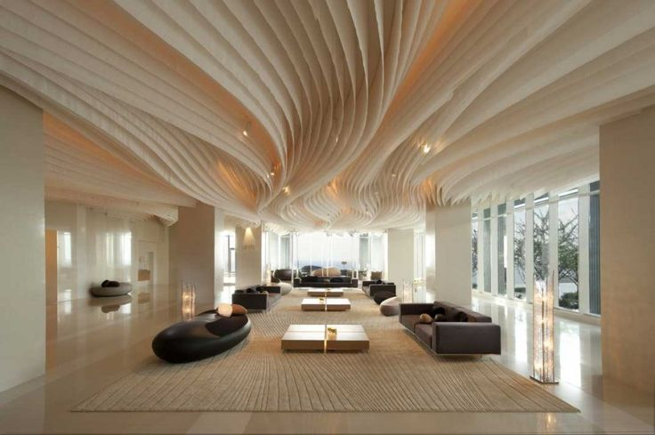 Hotel lobby ceiling articulation hotel lobby ceiling for Wooden hotel design