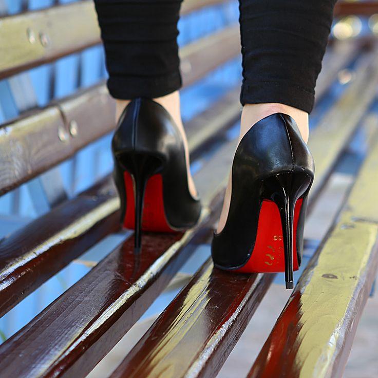 Siyah Klasik Topuklu Ayakkabı - Ayakkabı Çanta Dükkanı