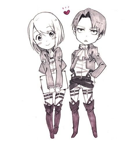 Rivaille (Levi) x Petra Ral  don't mind it.. still I ship LeviHan and AuroPet mostly even tho it was kinda canon Petra liked him....
