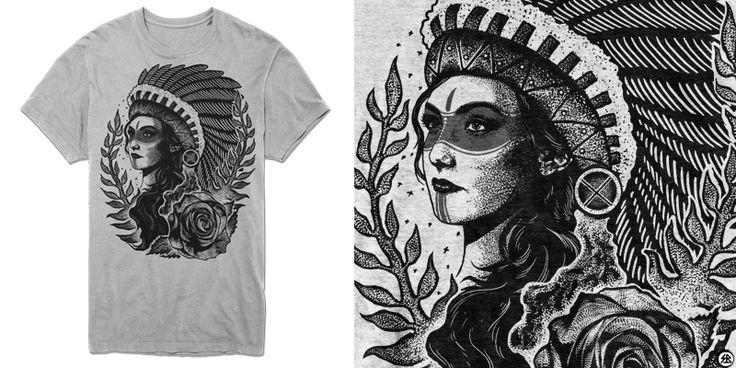 """""""Queen"""" t-shirt design by sebrodbrick"""