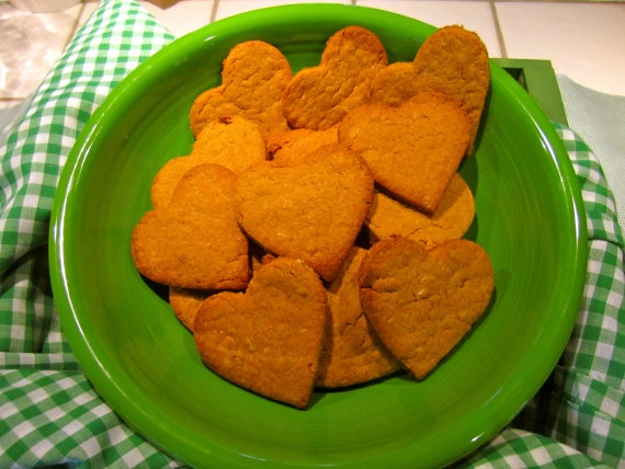Road Apples Peanut Butter Heart Treats For Dogs by Amp431 on Etsy, $6.50
