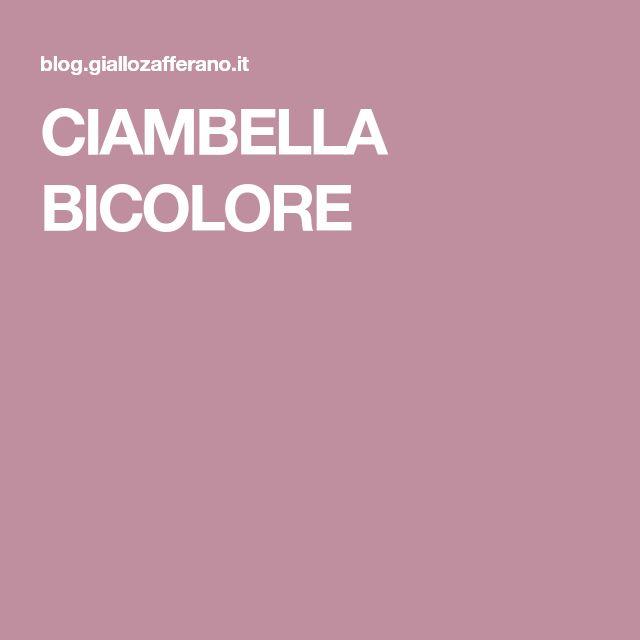 CIAMBELLA BICOLORE