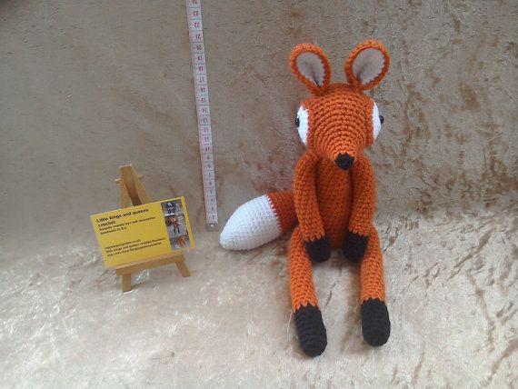 Baby fox animal toy crochet fox crochet by kingsnqueenscrochet