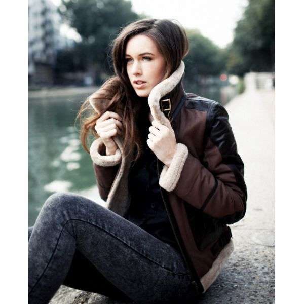 Snuggle up with our new Nat+Nin bombers; made in Paris from cotton and genuine lambskin with fleece collar and sleeves.