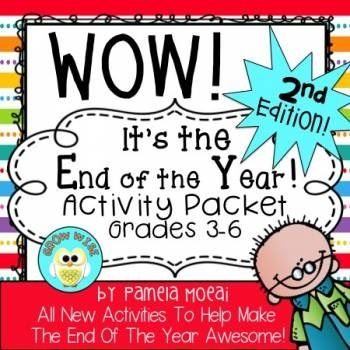 End of the Year Activities for Grades 3-6!  14 Activities and Autograph Pages to make the end of your year smooth and lovely!