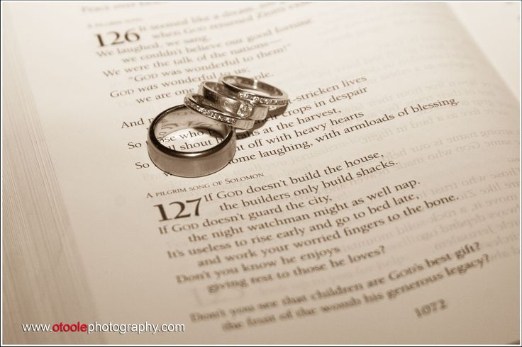 Rings in a bible