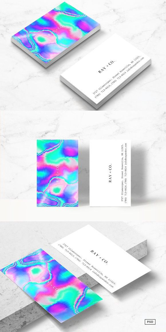 Holographic Business Card Template Business Card Template Holographic Holographic Background