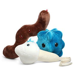 Gigantic Plush Microbes