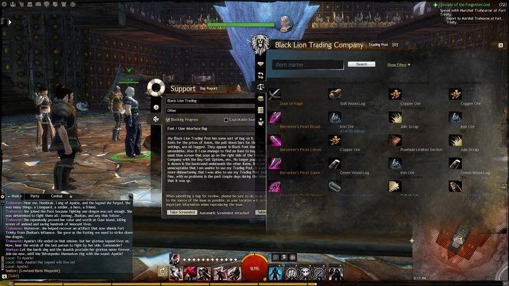 Guild Wars 2 UI
