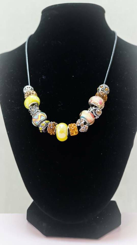 Excited to share the latest addition to my #etsy shop: Necklace 32 http://etsy.me/2CWWP8P #jewelry #necklace #silver #no #women #yellow #jewellery #accessorieswoman #luxuriousjewellery
