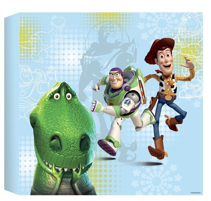 Toy Story Printed Canvas (30x30cm)   Graham and Brown