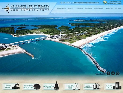 Website Real Estate Desain Terbaik - Reliance Trust Realty and Investments - Melbourne, FL