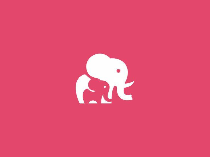 Unused Elephant Mark / Icon / Logo Design Concept by Utopia Branding #logo #symbolic