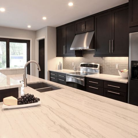 With quartzite counters this is a way to make the grey subway look less 'country'