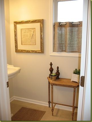 DIY:: Burlap Curtains...for The Bottom Half Of The Window Since