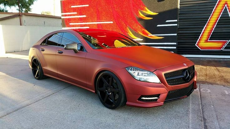 Apex Customs Phoenix Az Mercedes Cla Matte Red 3m Vinyl