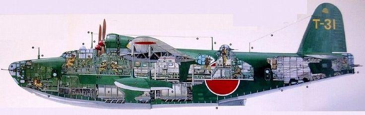 Kawanishi h8k2_cutaway fondo de pantalla - ForWallpaper.com
