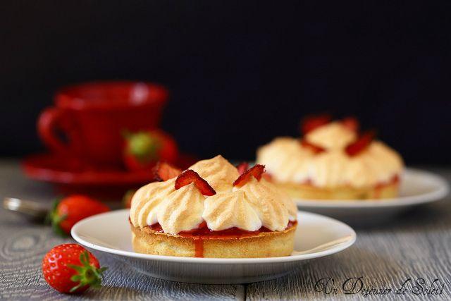 Un dejeuner de soleil: Tarte meringuée fraises framboises pour la fête de...