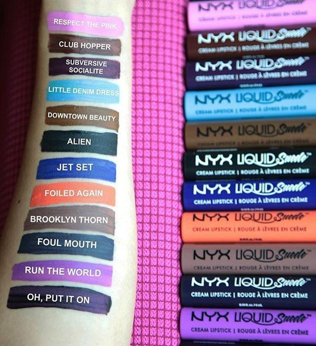 #SWATCHES  @nyxcosmetics Is about to drop 12 NEW #LiquidSuede Cream #Lipstick Shades... | Use Instagram online! Websta is the Best Instagram Web Viewer!
