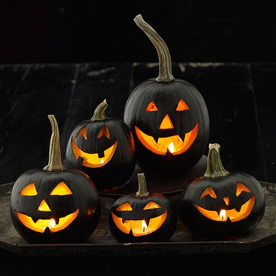 black spray or acrylic paint to add some additional spooky drama to your DIY outdoor Halloween decorations, use painters tape to keep paint off stems