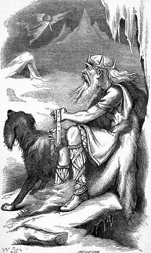 Jötnar is a mythological group of gigant people in the Norse (Norrøn) Saga litterature. Jotun, Jøtun, Jutul, Jøtne. In Norway: Jotunheimen. Home of Jøtnar. Þrymr is a Jötunn. Odin was the main God of Jutnar