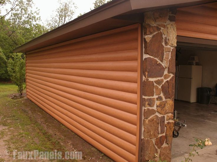 17 best ideas about log siding on pinterest firewood for Faux wood siding options