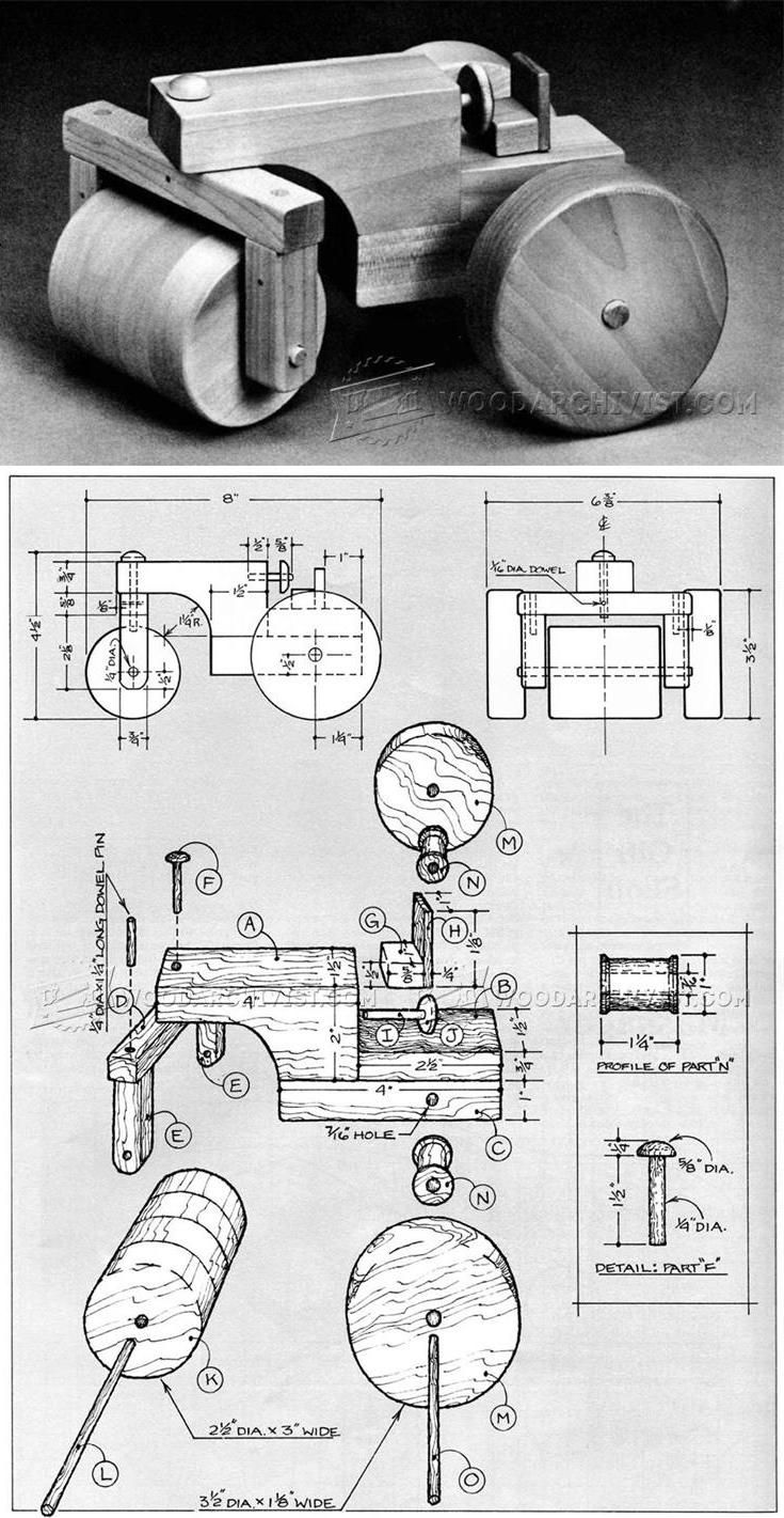 Wooden Steam Roller Plan - Wooden Toy Plans and Projects | WoodArchivist.com