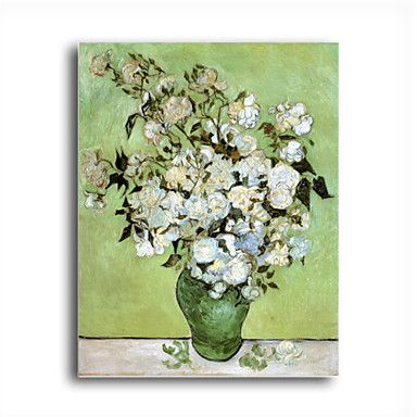 A Vase of Roses, c.1890 Oil Painting by Vincent van Gogh Free Shipping